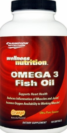 product photo for Champion Performance Omega 3 Fish Oil 120 Softgels