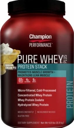 product photo for Champion Performance Pure Whey Plus 4.8 lbs