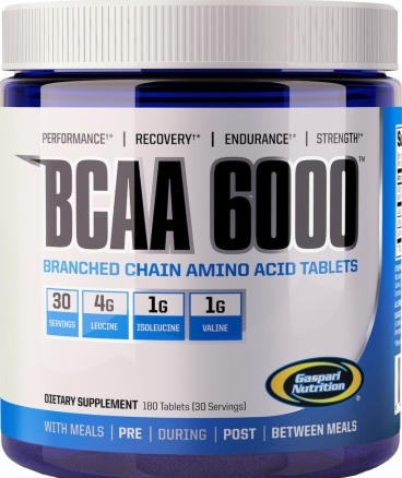 product photo for Gaspari Nutrition BCAA 6000 180 Tablets
