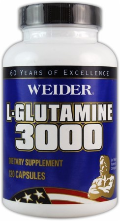 product photo for Weider L-Glutamine 3000 (120 Capsules)
