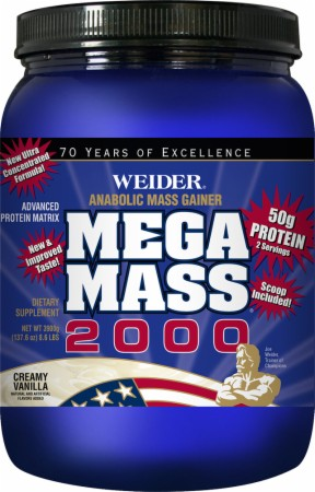 product photo for Weider Mega Mass 2000 (8.6 Lbs)