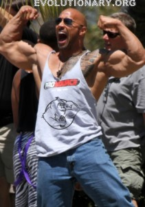 dwayne johnson double biceps