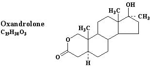oxandrolone anavar chemical structure