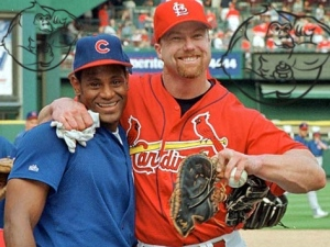 Sammy Sosa with Mark McGwire