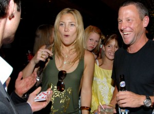 Kate Hudson Expressed Shock Over A-Rod And Armstrong Doping    Kate Hudson And Lance Armstrong