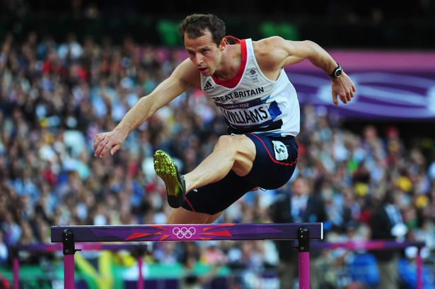 Rhys Williams hurdles