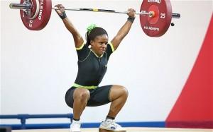 Nigerian weightlifter Chika Amalaha