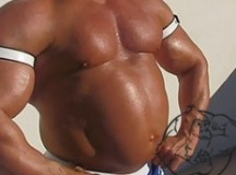 Bodybuilder with water retention