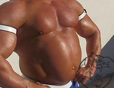 bloated water retention bodybuilder