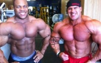 Phil Heath posing with Jay Cutler