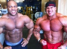 Phil Heath posing with Jay Cutler