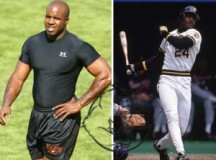 Fig 1. Barry Bonds before alleged use of steroids (right) and after steroids (left)
