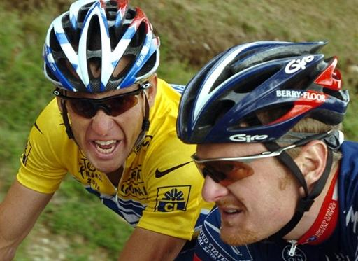 Lance Armstrong and Floyd Landis