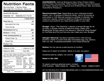 mts whey ingredients