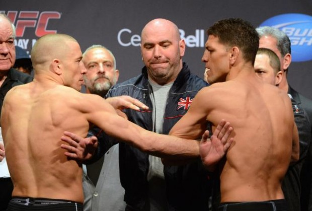 nick diaz Georges St-Pierre