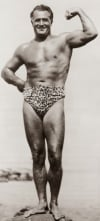 Charles Atlas posing