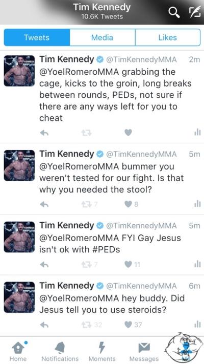 Tim Kennedy twitter yoel romero