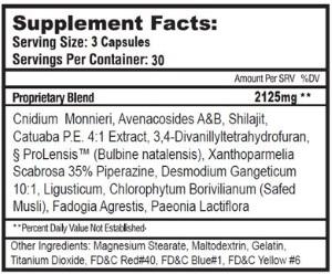 teststackrx17 ingredients