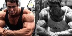 von moger steroids vs Arnold Schwarzenegger