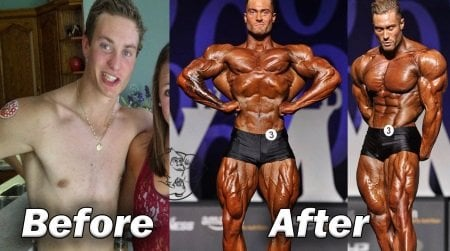 Chris Bumstead before after