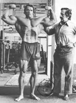 Joe Weider and Arnold