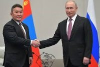 Khaltmaagiin Battulga and putin