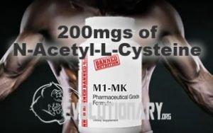 EVO-M1-MK - 200mgs of N-Acetyl-L-Cysteine