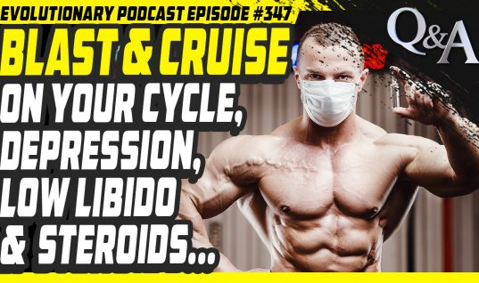 Evolutionary.org Podcast #347[Q/A]Blast and Cruise on your cycle,depression,low libido and steroids.