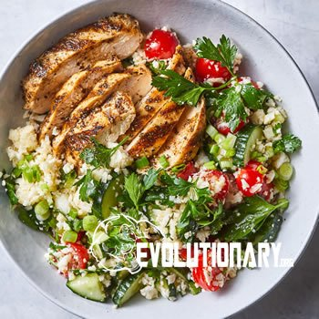 Spiced Grilled Chicken with Cauliflower Rice Tabbouleh